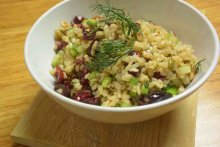 Brown rice salad, perfect dinner and lunch