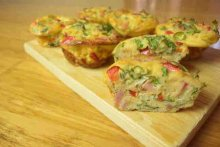 No Pastry Bacon & Egg Mini Quiches